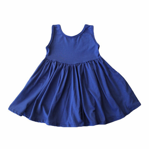 Indigo Tank Twirly Dress