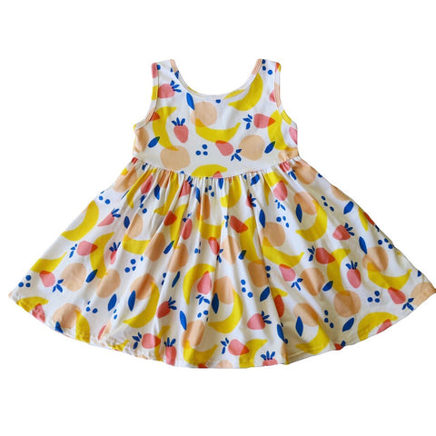 Mixed Fruit Tank Twirly Dress