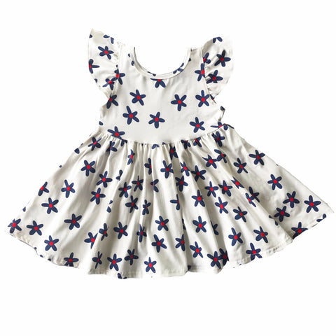 Hattie Daisy Flutter Sleeve Twirly Dress