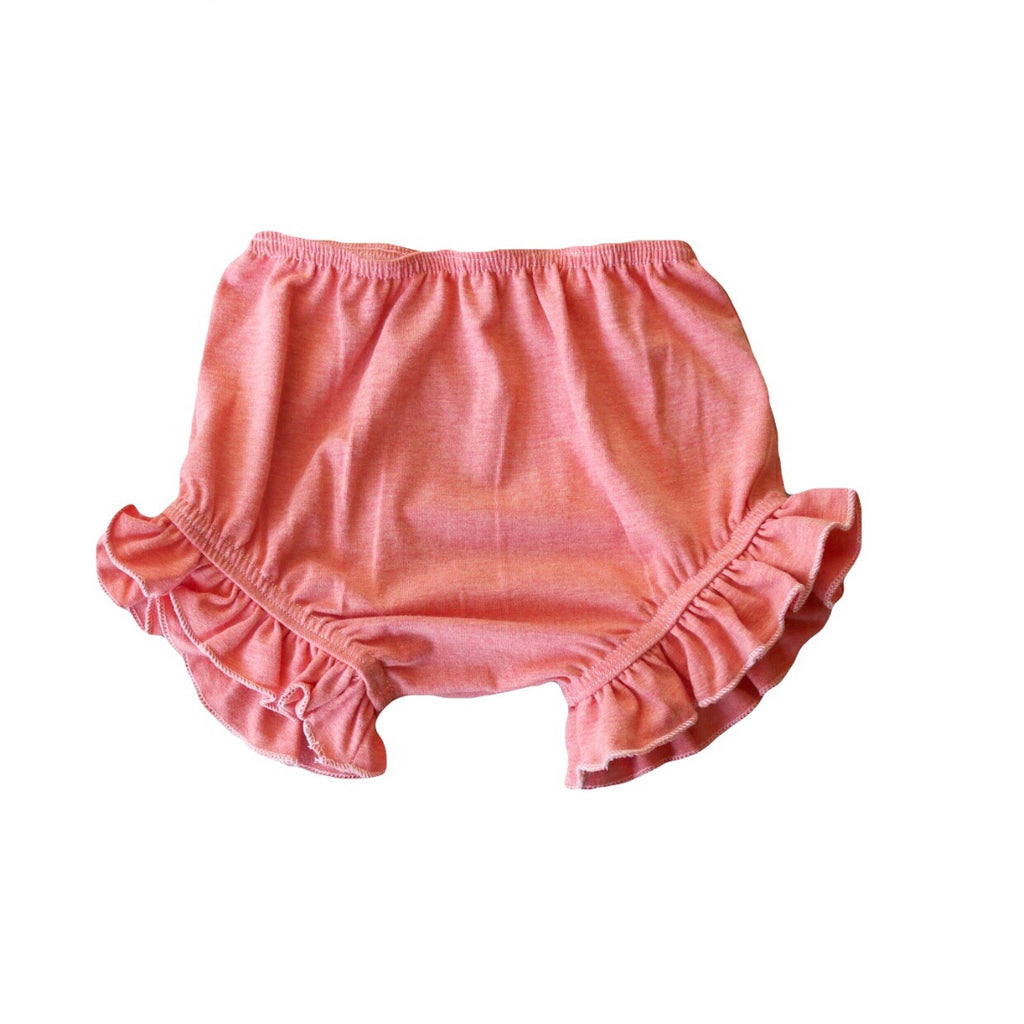 Heathered Peach Ruffle Bloomers