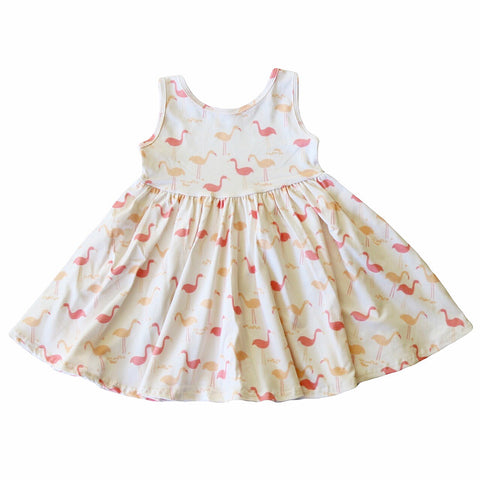 Flamingo Tank Twirly Dress