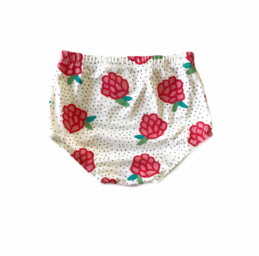 Black Dot Holiday Floral Bloomers