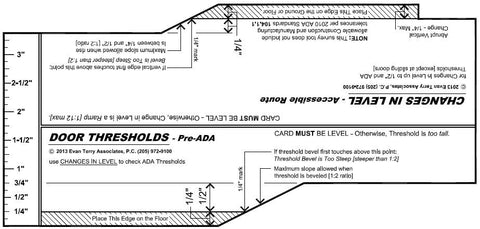 Change in Level - Door Thresholds Tool