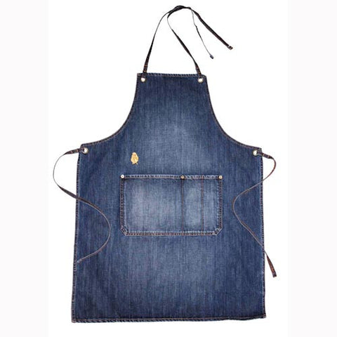 Vintage Wash Denim Apron - Indigo