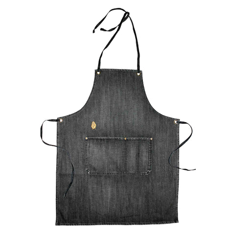 Vintage Wash Denim Apron - Black