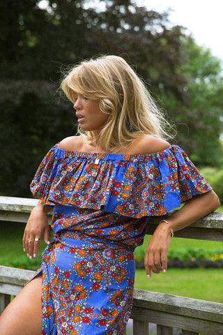 Bronte Off-Shoulder Top | Saffron