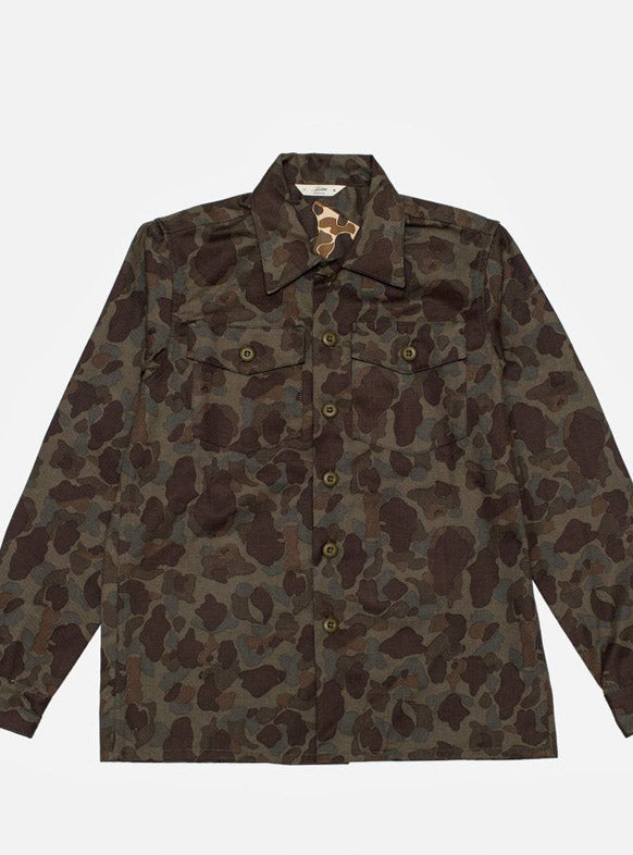 3Sixteen Fatigue Overshirt Dark Frog Camo