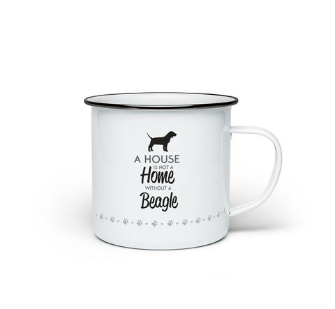 A House is Not a Home Without a Beagle Enamel Mug