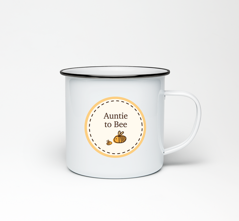 Auntie to Bumble Bee Enamel Mug
