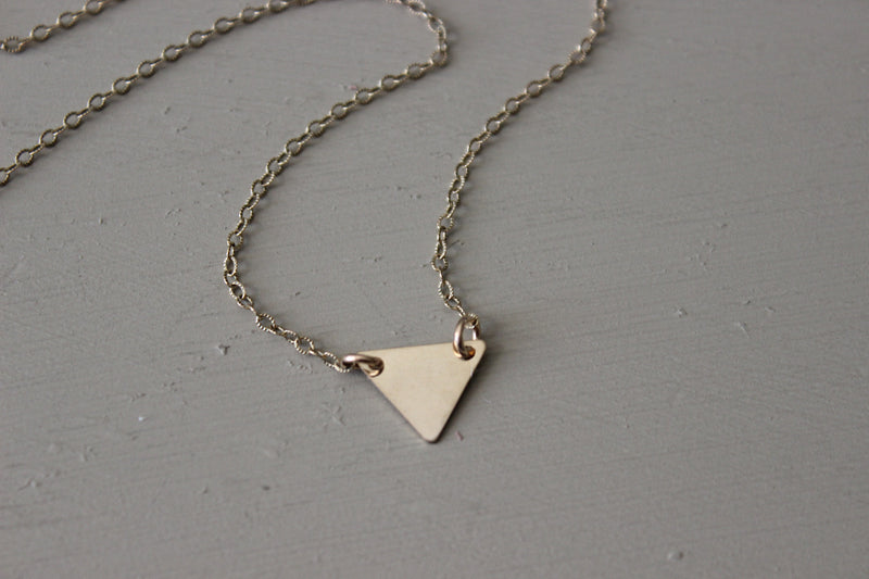 Gold Triangle Necklace - Designed By Lei