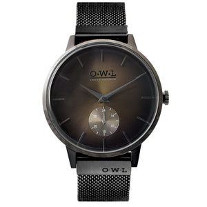 FILTON BLACK CASE & BLACK MESH STRAP WITH OCHRE DIAL LTD EDITION - OWL watches