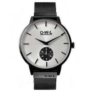 FILTON BLACK CASE & BLACK MESH STRAP WITH PALE SILVER DIAL - LTD EDITION - OWL watches