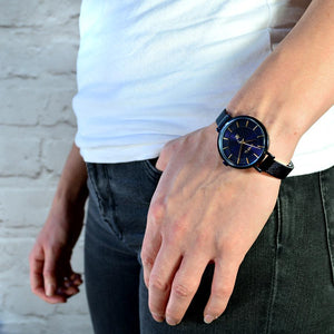 LEDBURY NAVY BLUE MESH WATCH - OWL watches