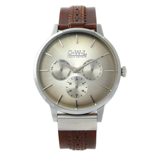 PEMBREY GENTLEMAN'S BROGUE LEATHER STRAP WATCH - OWL watches