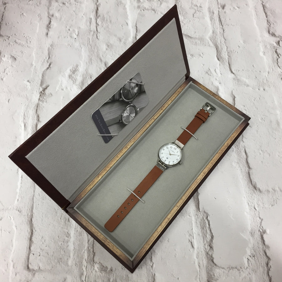 SUTTON ROSE GOLD CASE WITH MINK DIAL & MINK LEATHER STRAP - OWL watches