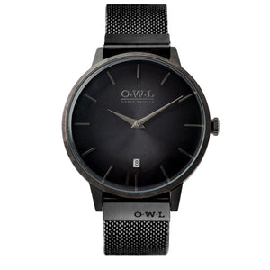 WALLOP GENTLEMAN'S BLACK CASE & MESH STRAP WATCH LTD - Edition - OWL watches