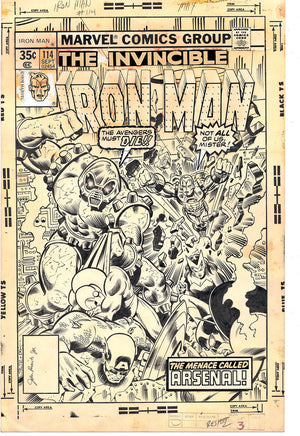 Iron Man #114 Original Cover Art