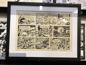 JACK KIRBY BLACK HOLE ORIGINAL ART - SIGNED
