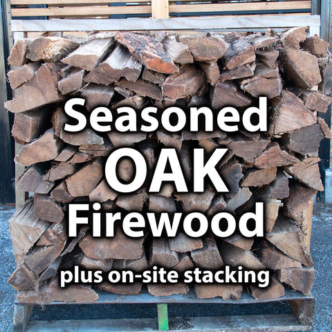 1/2 Seasoned Oak Firewood - 1 Pallet + Stacking