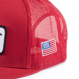 CHAINSAW MESH HAT Red