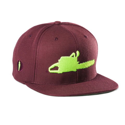 Chainsaw Hat Burgundy