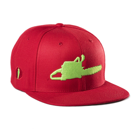 Chainsaw Hat Red