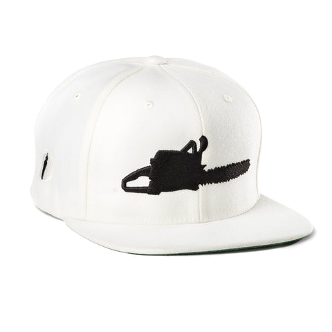 Chainsaw Hat White