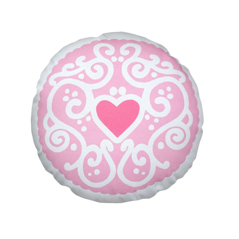 Candyfloss Pink Jammy Heart Printed Cushion