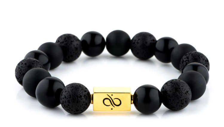 Classic Black Mixed (12mm) Gold