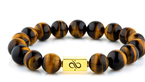 Classic Tiger Eye (12mm) Gold