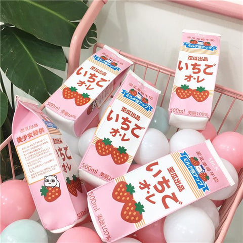 Strawberry Milk Pencil Bag SD00894