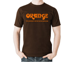 Orange Amplifiers T-Shirt, Brown, Small