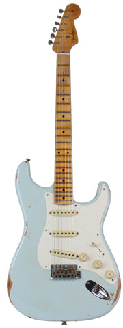 Fender Custom Shop 58 Relic Strat Guitar, Super Faded Sonic Blue