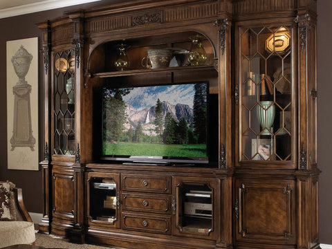 Belvedere Entertainment Left Wall Unit Top and Base