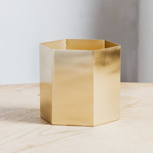 Ferm Living Hexagon Pot Large Brass