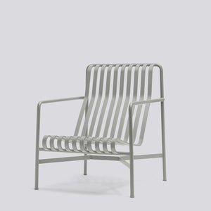 HAY Sky Grey Palissade Lounge Chair High