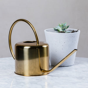 Kikkerland Brass Watering Can