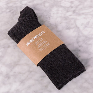 Norse Projects Siggy Lambswool Sock Camel