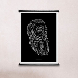 Paper Collective Bearded Man #1 30X40 Print