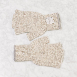 Upstate Stock Fingerless Ragg Wool Glove Large / Oatmeal Melange