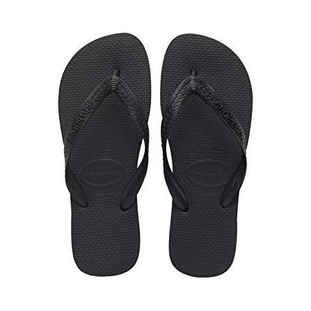 Daily Steals-Havaianas Top Black Rubber Sandal - 6 Womens/ 5 Mens-Accessories-
