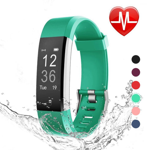 update alt-text with template Daily Steals-Fitness Tracker with Blood Pressure, Heart Rate Monitor and Color Display-Health and Beauty-Green-