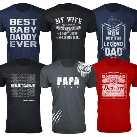 Daily Steals-Men's Best Father's Day Ever T-shirts-Men's Apparel-Papa Bear Scratch - Navy-S-