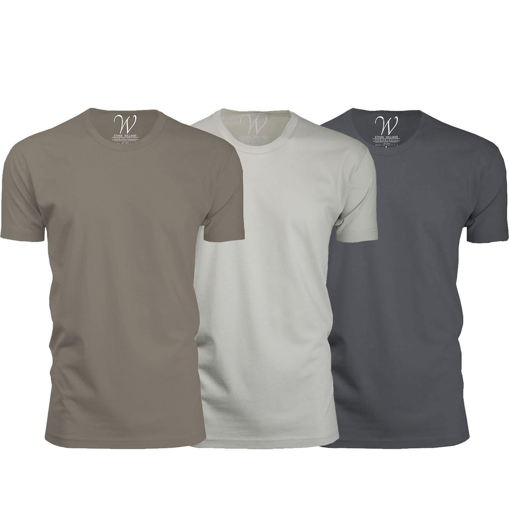 update alt-text with template Daily Steals-Men's Ethan Williams 3-Pack Sueded Crew Neck T-shirts-Men's Apparel-Heavy Metal + Stone + Sand-2XL-