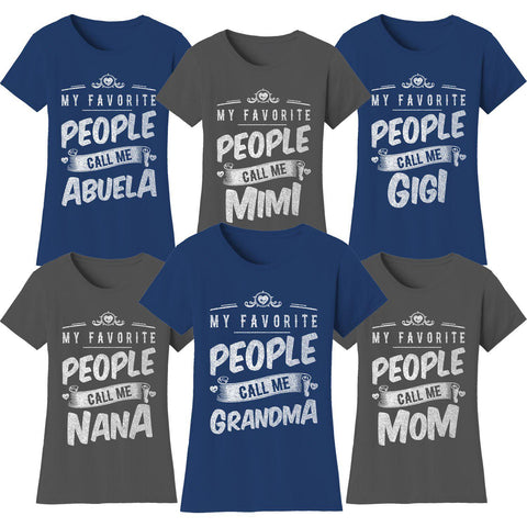 "Daily Steals-Women's T-shirts ""My Favorite People Call Me:"" - Variety Available-Women's Apparel-Medium-Mom - Black-"