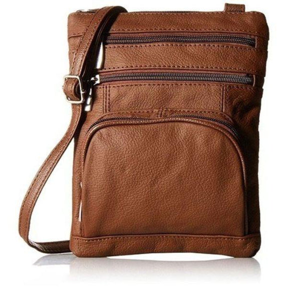update alt-text with template Daily Steals-Super Soft Leather Plus Size Crossbody Bag-Women's Accessories-Dark Brown-