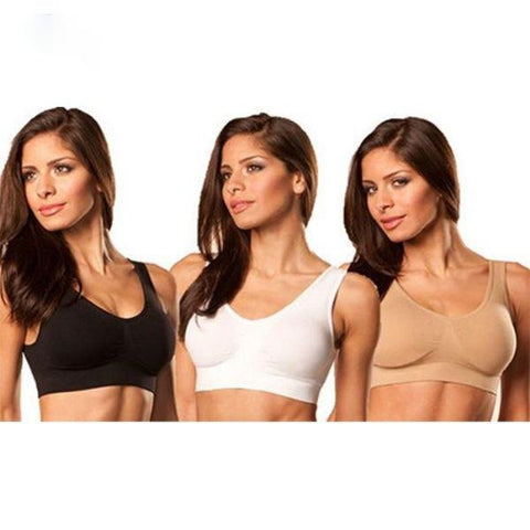 Daily Steals-Rhonda Shear Ahh Bras 3 - Pack-Women's Apparel-Small-
