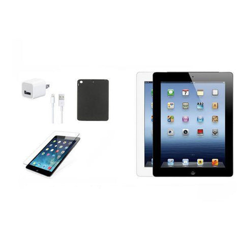 Daily Steals-iPad 3 32GB Bundle (Case, Charger, Tempered Glass) - Black or White-Tablets-Black-
