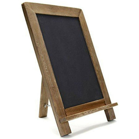 "Daily Steals-Rustic Wooden Framed Free Standing Chalkboard (16"" x 12"")-Home and Office Essentials-"