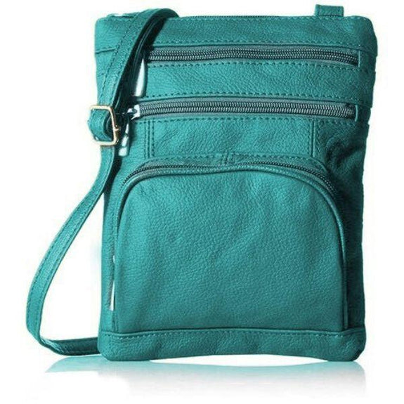 update alt-text with template Daily Steals-Super Soft Leather Plus Size Crossbody Bag-Women's Accessories-Teal-